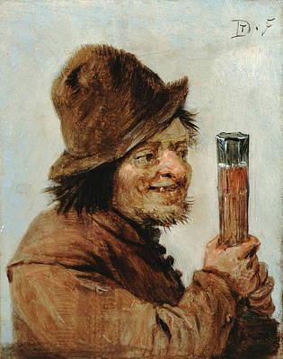 A Peasant Holding A Glass Art Print