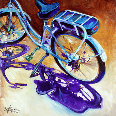 Painting - A Pedego Cruiser Bike by Marcia Baldwin