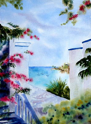 Painting - A Peek At Paradise by Diane Kirk