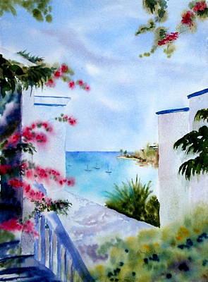 Painting - A Peek At Paradise by Diane Kirk