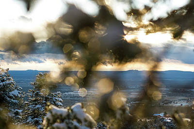 Photograph - A Peek At Taos Mesa by Jason Coward