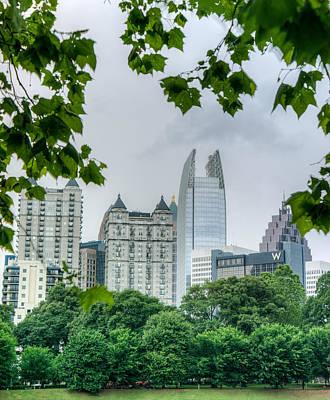 A Peek At The Atlanta Skyline Art Print
