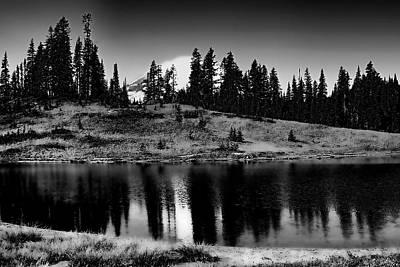 Washington Photograph - A Peek At The Mountain by David Patterson