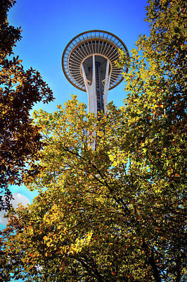 Seattle Photograph - A Peek At The Space Needle by David Patterson