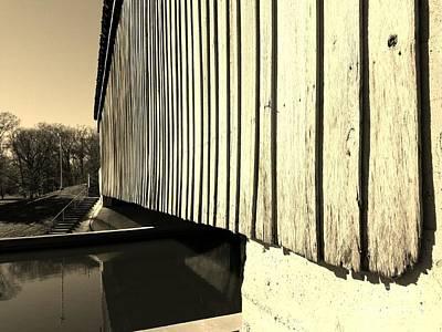 A Peek Beneath The Bridge - Sepia Art Print by Scott D Van Osdol