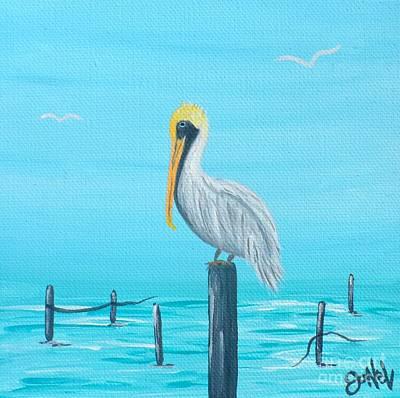 Painting - A Pelican's Peace by JoNeL Art