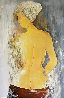 Painting - A Pensive Moment by Renate Dartois