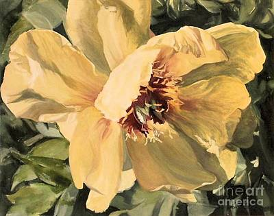 Painting - A Peony For Miggie by Laurie Rohner
