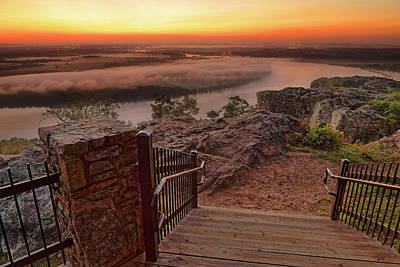 Photograph - A Petit Jean Sunrise - Arkansas - Landscape by Jason Politte