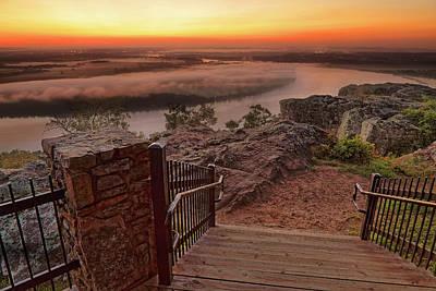 Art Print featuring the photograph A Petit Jean Sunrise - Arkansas - Landscape by Jason Politte