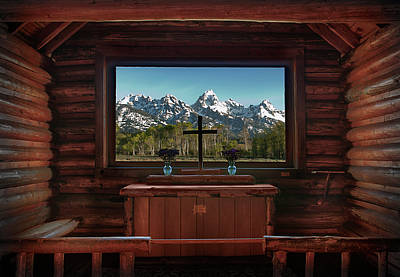 House Of Worship Photograph - A Pew With A View by Sandra Bronstein
