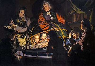 Painting - A Philosopher Giving That Lecture On The Orrery In Which A Lamp Is Put In Place Of The Sun  by Joseph Wright of Derby