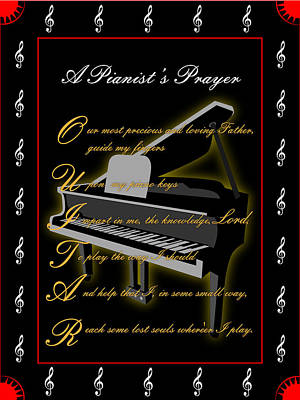 Digital Art - A Pianists Prayer_1 by Joe Greenidge