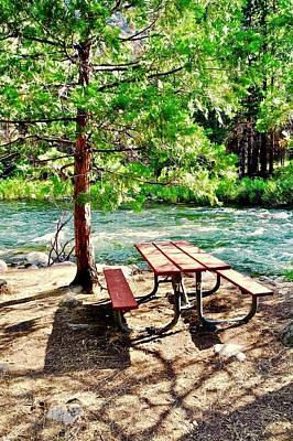 Photograph - A Picnic Table By The King's River by Kirsten Giving