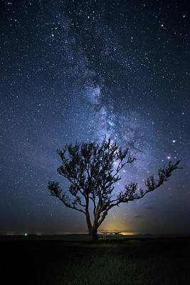Macrocosm Photograph - A Picnic Under The Milky Way by Mark Andrew Thomas