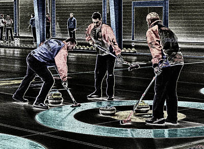 A Piece Of Curling Art Original by Lawrence Christopher