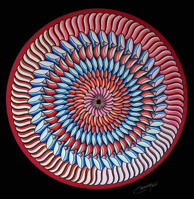 Mandala Painting - A Piece Of My Heart by Marcia Lupo