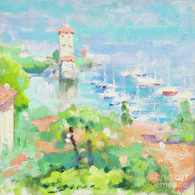 Lake Como Painting - A Piece Of Pescallo by Jerry Fresia