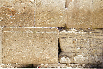 Photograph - A Piece Of The Wailing Wall by Yoel Koskas