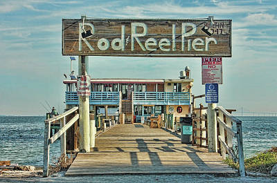 Photograph - A Pier Called The Rod And Reel by HH Photography of Florida