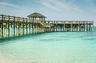 Photograph - A Pier In The Bahamas by Anthony Doudt