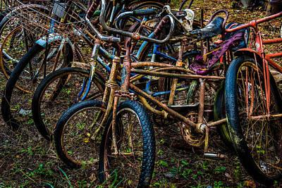 Photograph - A Pile Of Bikes by Randy Walton