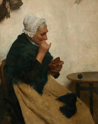 Shawl Painting - A Pinch Of Snuff  by Edwin Harris