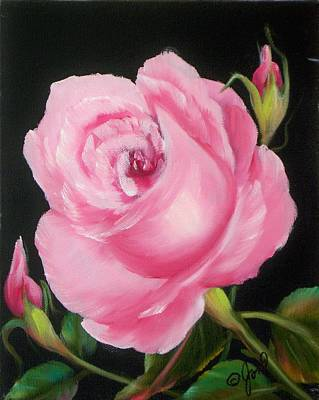 Painting - A Pink Rose by Joni McPherson