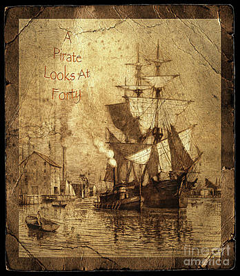 Photograph - A Pirate Looks At Forty Schooner Wharf by John Stephens