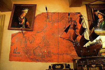 Photograph - A Pirates Map Room by David Lee Thompson