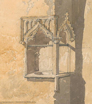 Piscina Painting - A Piscina In Blickling Church, Norfolk by John Sell Cotman