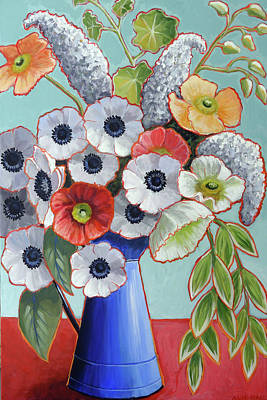 Pitcher Painting - A Pitcher Of Anemones by Ande Hall