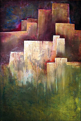 Abstract Skyline Wall Art - Painting - A Place For Solace by Shadia Derbyshire
