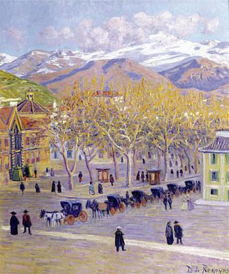 Painting - A Place In Granada by Dario de Regoyos