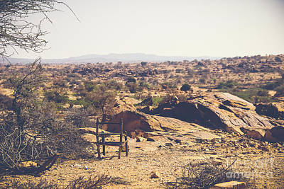 A Place In The Desert Art Print by Lemmi Pfeiffer