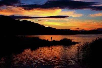 Lakes Of Killarney At Sunset Art Print