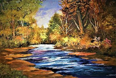 Painting - A Place Of Serenity And Autumn Splendor by Al Brown