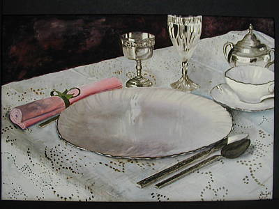 A Place Setting Art Print by Dwight Williams