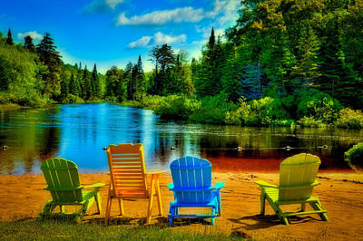 A Place To Relax At Singing Waters Art Print by David Patterson
