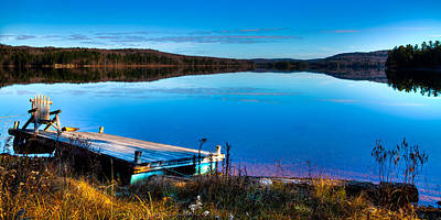 A Place To Relax On 7th Lake Art Print by David Patterson