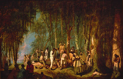 Negro Painting - A Plantation Burial by Mountain Dreams