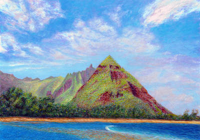 Island Painting - A Pleasant Place by Kenneth Grzesik