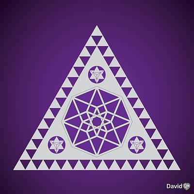 Digital Art - A Pleiadian Symbol by David Diamondheart