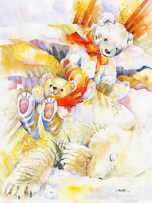 A Polar Bears' Dream Art Print by TEDDY BEARS ONLY Wendy Tosoff