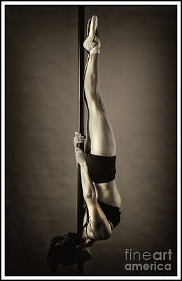 Photograph - A Pole Fitness Dancer Inverted by Michael Edwards
