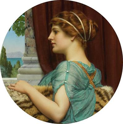 Rhythm And Blues Painting - A Pompeian Lady by John William