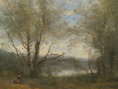 Painting - A Pond Seen Through The Trees by Jean-Baptiste-Camille Corot