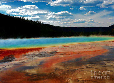Yellowstone Digital Art - A Pool Of Color by Robert Pearson