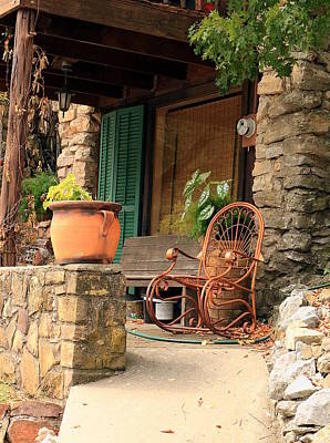 Photograph - A Porch In The Mountains by Sheila Brown
