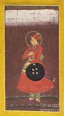 Portaits Painting - A Portait Of Maharaja Ram Singh Of Bikaner by Celestial Images